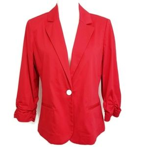 Chicos 1 One Blazer Red One Button Jacket NWOT